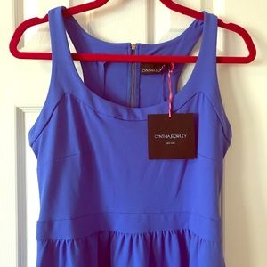Cynthia Rowley vibrant blue/ periwinkle dress